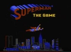 Superman game for Atari
