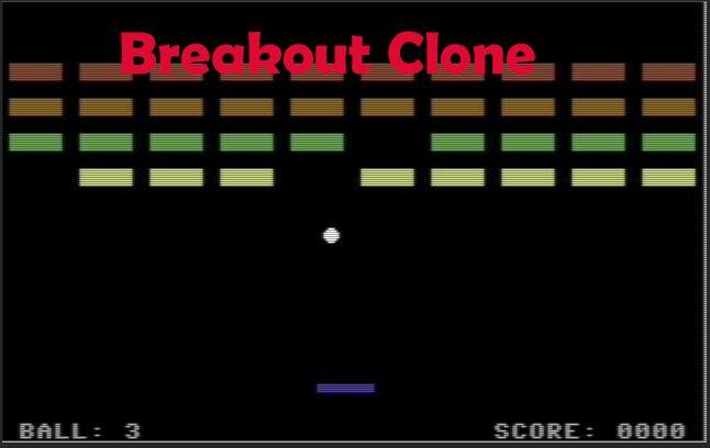 Breakout Clone Files - Commodore 64 Brain