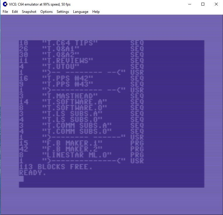 VICE C64 Emulator - Commodore 64 Brain
