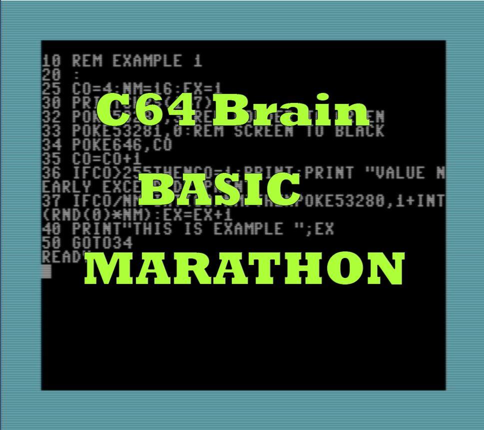 C64 Basic Marathon - Commodore 64 Brain