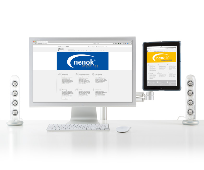 Webdesign nenok MT GmbH - Relaunch Website
