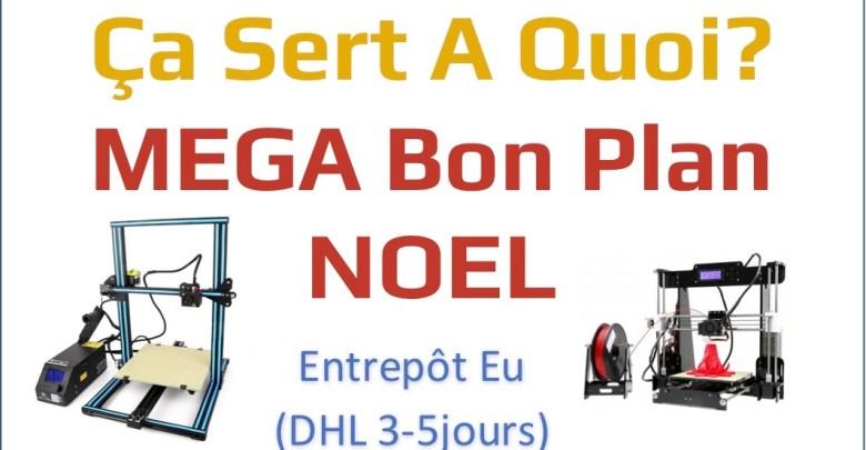 Entete Bons plans MEGA CR10 ANET A8