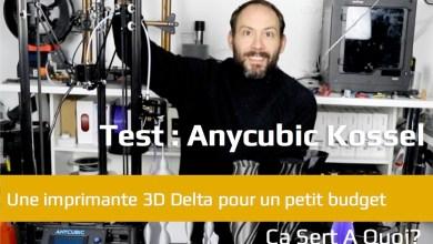 Photo de Test : Anycubic Kossel, l'imprimante 3D Delta pour petit budget