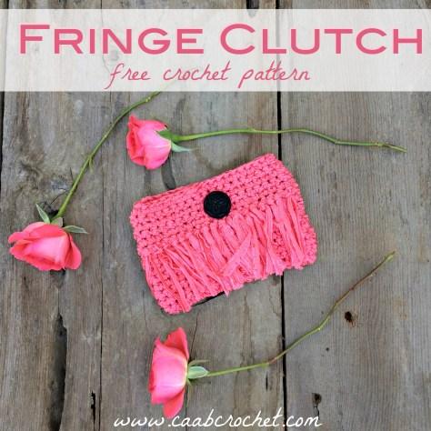 Crochet Clutch Pattern Fringe Purse Free Crochet Pattern
