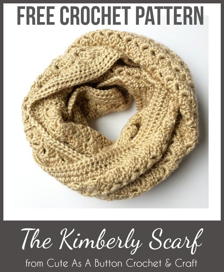 Infinity Scarf Pattern Infinity Scarf Crochet Pattern Crochet
