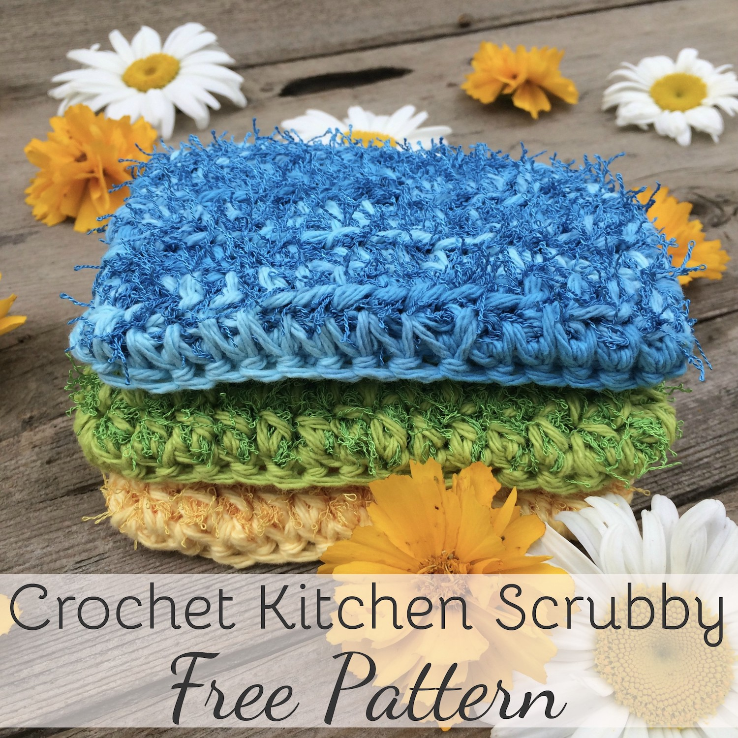 Crochet Kitchen Scrubby Pattern: Quick and easy pattern for beginners!