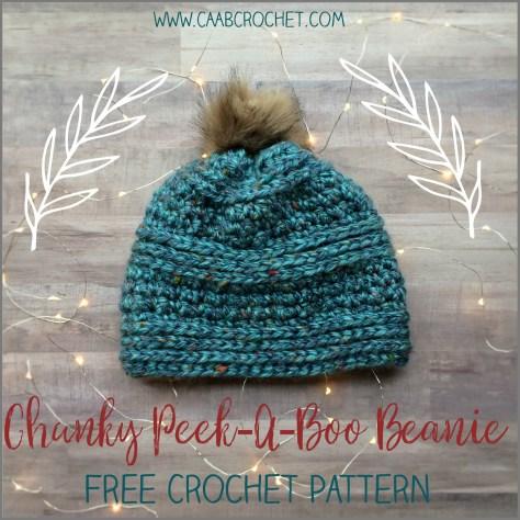 chunky beanie pattern crochet