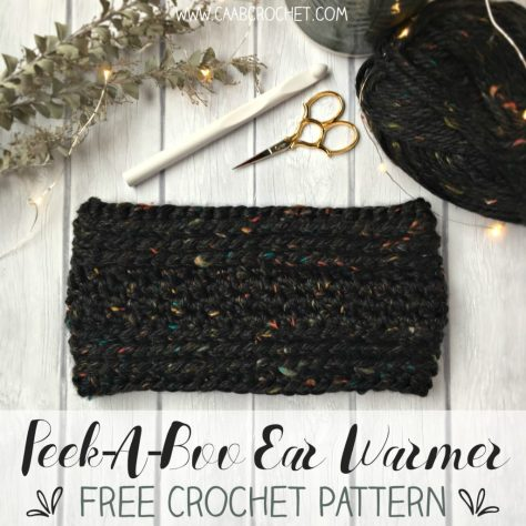 Crochet Ear Warmer Pattern Peek A Boo Ear Warmer Free Crochet