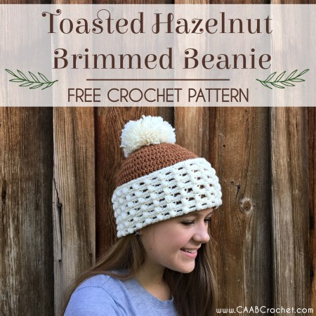 Toasted Hazelnut Crochet Brimmed Beanie Pattern Cute As A Button