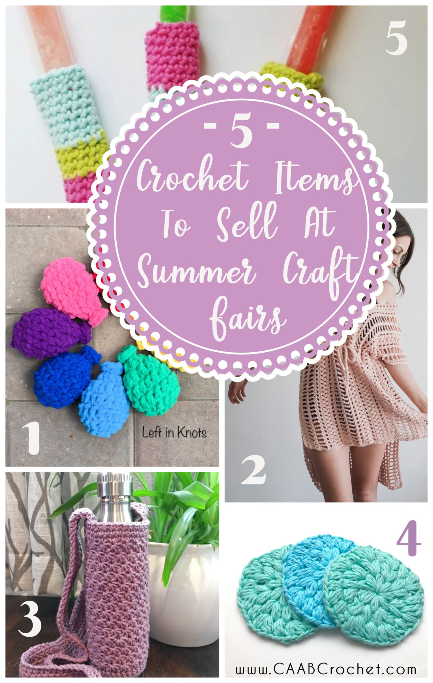 5 Crochet Ideas To Sell At Summer Craft Fairs Cute As A Button