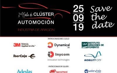 """Reserva la fecha: III Noche del Clúster de Automoción """"Industria de Aragón"""" el 25 de septiembre"""