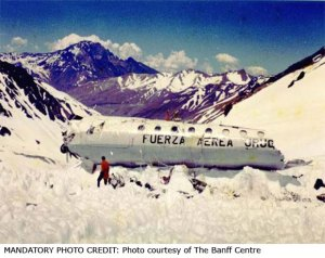Remains of a chartered Uruguayan Air Force flight 571 when it hit a mountain range shrouded in mist as it flew from Santiago to Montevideo. There were survivors.