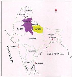 Awadh_Rohilla_map