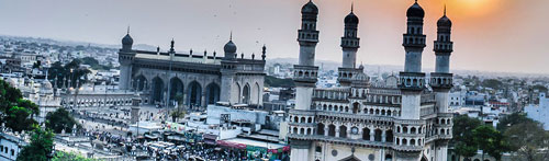 When Hyderabad was conquered, the Grand Mosque of the city, the Mecca mosque was nearing completion. Its minarets were supposed to be higher than those of the neighbouring Charminar. But when Aurangzeb was approached for funds for completing the minarets, he declined and ordered the mosque to be finished as is. The result was a Grand Mosque with stubby little minarets, an architectural nightmare.