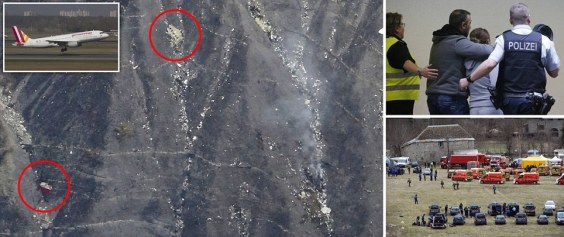 Another photo of the crash site showing concentration of the metal fragments only along the crevices. While a wheel, an engine and a small bit of fuselage is also thrown in, nothing remains of an actual aircraft. No baggage, no suitcases, no seats, and NO BODIES.