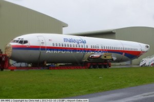 In October 2012, a former Malaysian Airlines 737 was flown to Kemble for scrapping. Was its fuselage intended to be deposited in the South China Sea as part of the coverup?