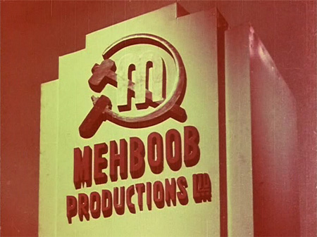 The symbol of Mehboob Studios contains a sickle and hammer.