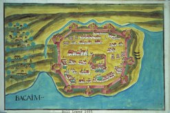 Map of the Portuguese fort at Vasai/Bassein.