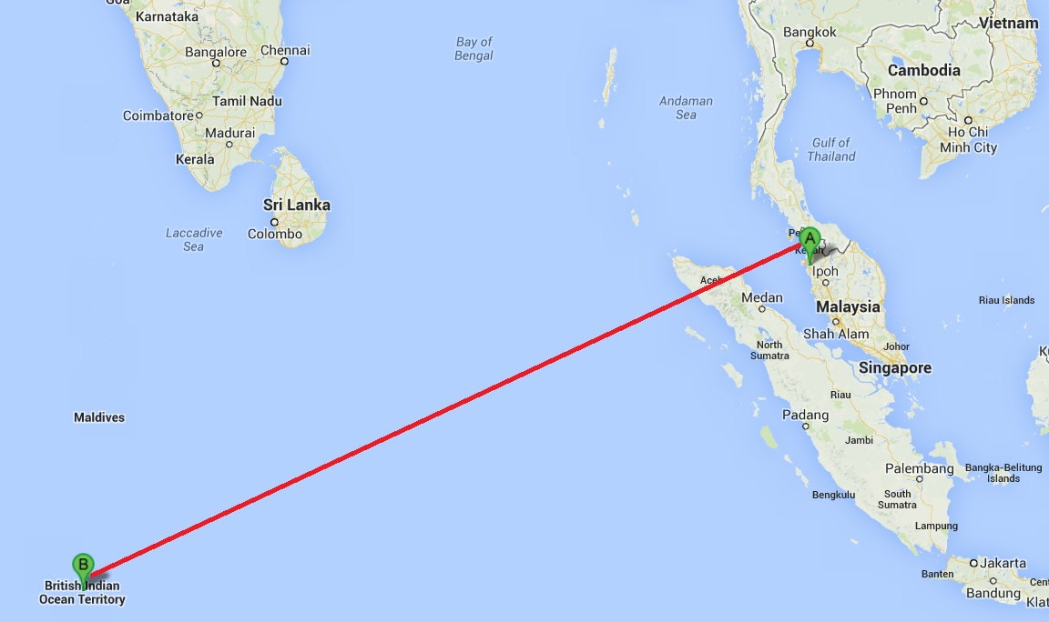Islamic Religion Map Was Malaysia Airlines ...