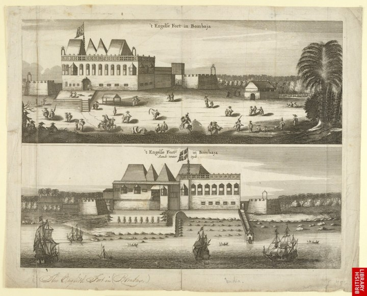 Pretty soon, the British trading post at Bombay transformed into a walled fort.