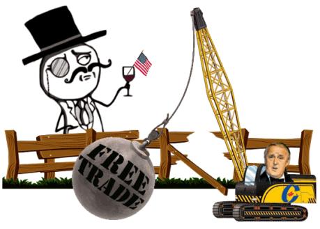 Free Trade as an Act of Vandalism