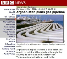 BBC on the 2002 Gas pipeline in Afghanistan