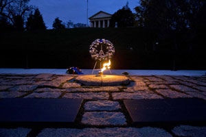 "A burning flame can be found on the official ""grave"" of JFK, which symbolizes a major Illuminati operation. The same burning flame can also be found on the grave of Princess Diana and on the Mahatma Gandhi memorial."