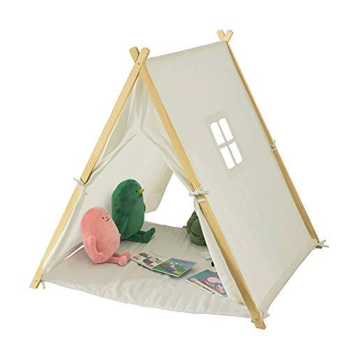 sobuy oss02 w tente tipi enfant pour garcon et fille teepee tente de jeu pour enfants avec tapis de sol et fenetres