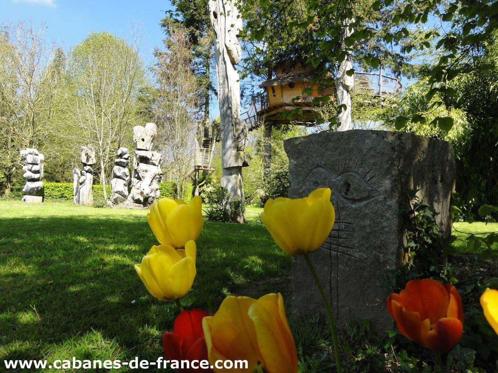 cabanes du jardin de pierre cabanes