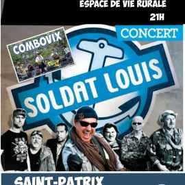 CONCERT SOLDAT LOUIS : La Saint Patrix (Saint patrick) à Saint Gervais d'Auvergne le 28 Mars 2020
