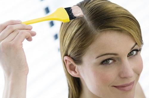 pintando o cabelo
