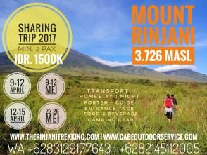 Paket Sharing Mendaki Gunung Rinjani