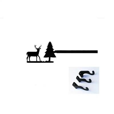 Deer Long Curtain Rod