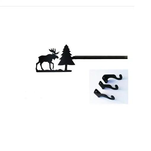 Moose Long Curtain Rod