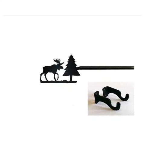 Moose short curtain rod