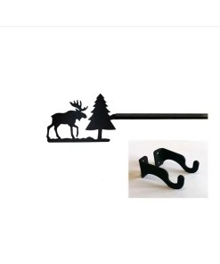 Moose short curtain rod