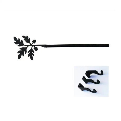 Acorn Leaf Long Curtain Rod