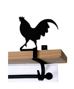 Rooster Curtain Rod Shelf Brackets