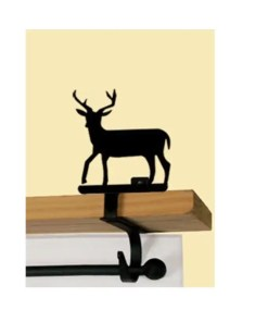 Deer Curtain Rod Shelf Brackets