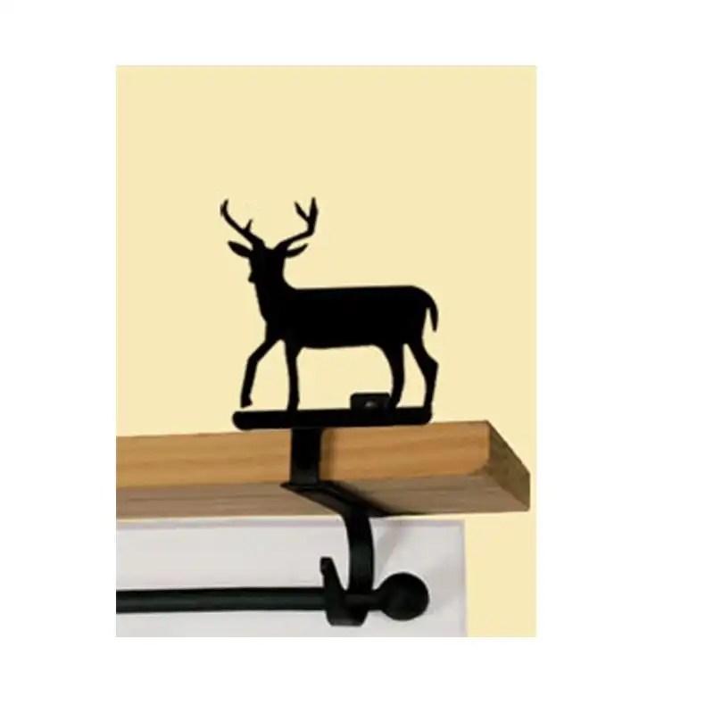 Deer Curtain Rod Shelf Brackets