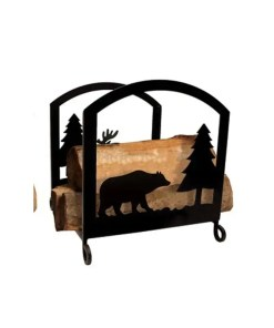 cabin firewood log rack