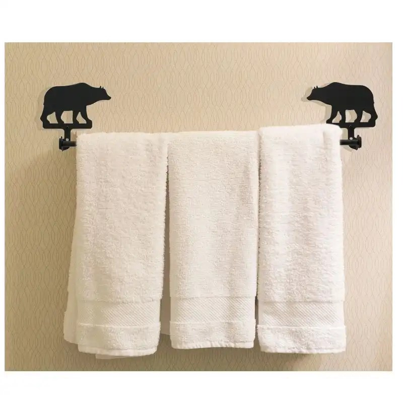 bear towel rack