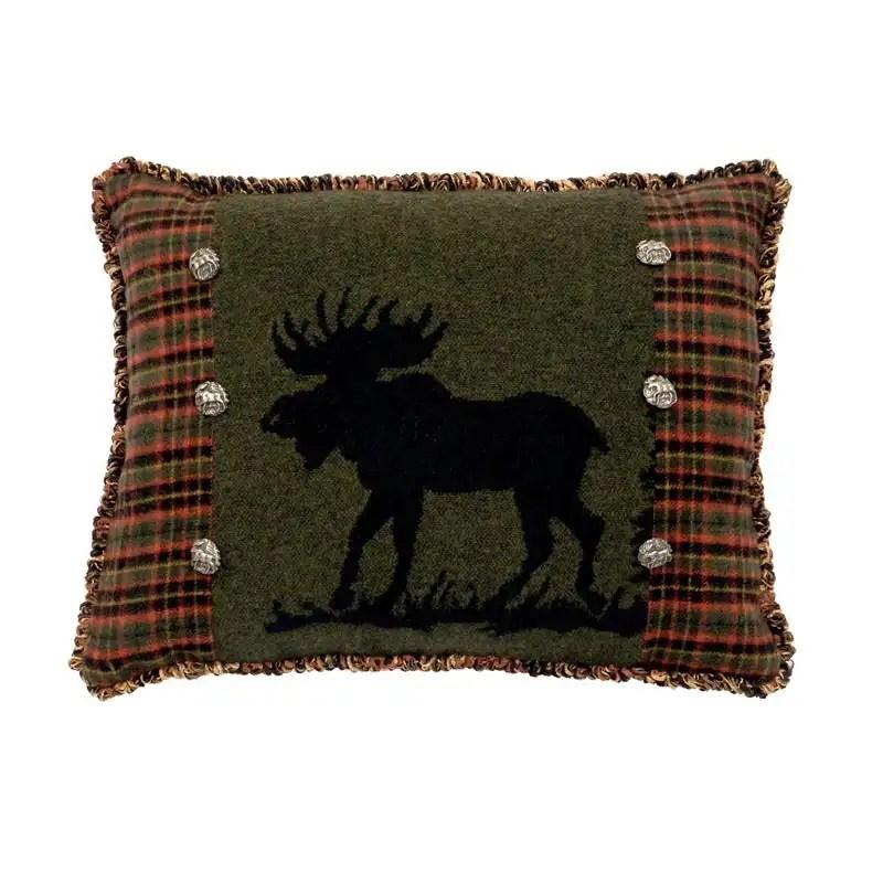 Moose Plaid Pillow