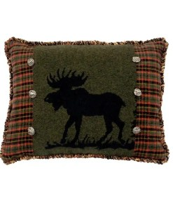 Moose Plaid Pillow