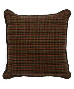 Wooded River Plaid Pillow