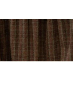 Brown Plaid Bedskirt