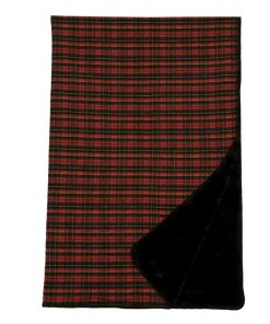 Wooded Red Plaid Blanket