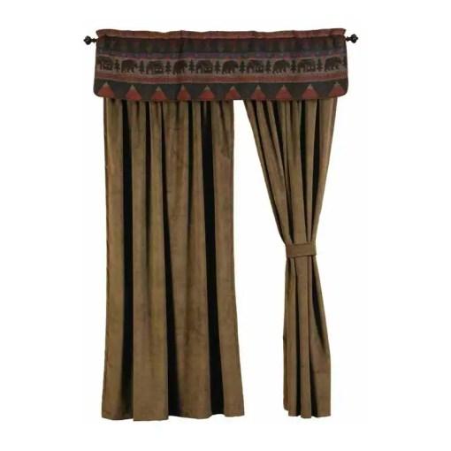 Cabin Bear Curtains Set
