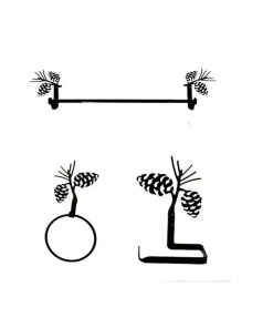Pinecones 3pc Bath Hardware Set