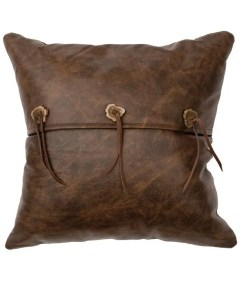Antler Button Leather Pillow